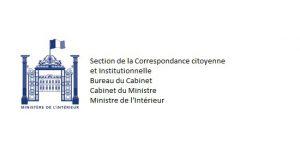 Courrier au Ministère de l'intérieur